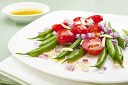 Salad Photo Prints - Green Bean and Tomato Salad Print by Colin and Linda McKie