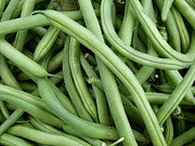 Farm Stand Art - Green Beans by Susan Colby