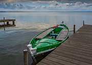 Green Boat Prints - Green Boat. Print by Juan Carlos Ferro Duque