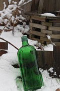 Valerie Chamberlin - Green Bottle in Winter...