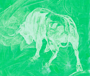 Featured Art - Green Bull Negative by Konni Jensen