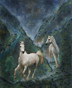 Stallions Digital Art - Green Canyon Run by Melinda Hughes-Berland