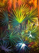 Cay Painting Posters - Green Cay Palms Poster by Anne Marie Brown
