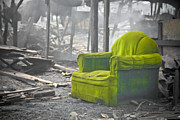 Manila Photos - Green Chair by Derek Selander