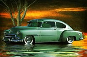 Photomanipulation Photo Prints - Green Chevy Print by George Lenz