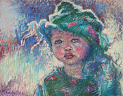 Child Pastels - Green Child by Ellen Dreibelbis