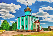 Siberia Digital Art - Green Church by Yury Malkov