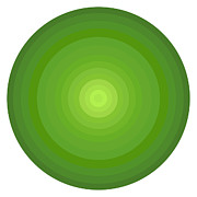 Gradient Prints - Green Circles Print by Frank Tschakert