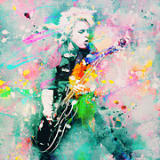 Guitar Paintings - Green Day  by Rosalina Atanasova