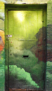 Streetart Prints - Green Door Print by Anahi DeCanio