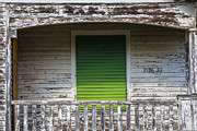 Galveston Framed Prints - Green Door Galveston TX  Framed Print by John McGraw