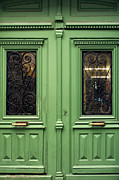Paris Framed Prints - Green Door nr 2 - Paris Framed Print by Philip Sweeck