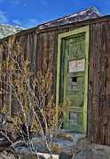 Blue Knob Photos - Green door of abandoned cabin by Kim M Smith