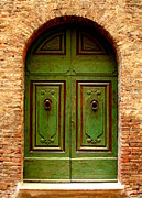 Ramona Johnston Framed Prints - Green Door Framed Print by Ramona Johnston