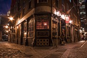 Brick Street Photos - Green Door Tavern Boston  by John McGraw