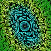 Green Dragon Eye Print by Anastasiya Malakhova
