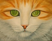 Sharon Challand - Green Eyed Cat - Looking...