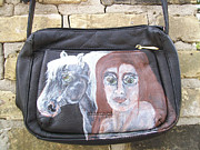 Clothes Clothing Mixed Media - Green Eyes Horse Purse by Heather Grieb