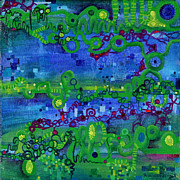 Mathematics Painting Prints - Green Functions Print by Regina Valluzzi