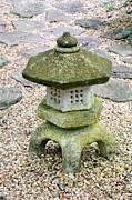 Green Garden Pagoda Print by Danielle Groenen