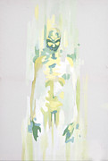 Nightmare Man Paintings - Green Ghost by Antonel adrian Tudor