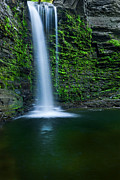 New York Waterfalls Posters - Green Glow Poster by Bill  Wakeley