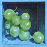 Blue Grapes Posters - Green Grapes Poster by Paige Wallis
