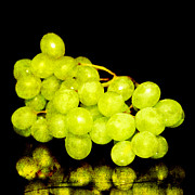 Grape Vine Photo Originals - Green grapes by Tommy Hammarsten