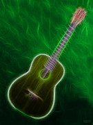 Music Lovers - Green Guitar by Hanza Turgul