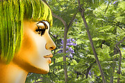 Horizontal - Green Hair and Jacaranda  by Chuck Staley