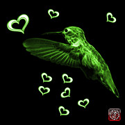 Animal Lover Digital Art - Green Hummingbird - 2055 F by James Ahn