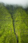 Featured Prints - Green Kauai Ridge Print by Kicka Witte