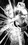 Dc Comics Prints - Green Lantern Print by Ken Branch