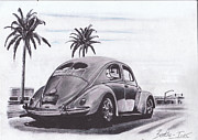 Classic Car Pastels - Green light by Art-Haus-Ink