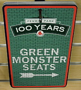 Boston Sox Prints - Green Monsta Seats Print by Caroline Stella