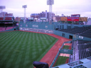 Boston Red Sox Metal Prints - Green Monster Fenway Park Outfield Metal Print by Brian Hoover