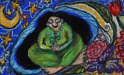 Growth Pastels - Green Mother by Emily Michaud