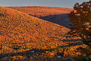 Manchester Vermont Prints - Green Mountain Slopes at Sunset Print by Charles Kozierok