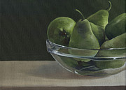 Still Life With Pears Prints - Green Pears Print by Natasha Denger