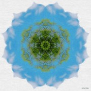 Kaleidoscope Digital Art - Green Planet by Jeff Kolker