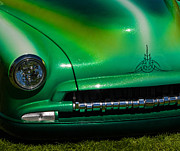 Crankshaft Prints - Green Popsicle 1952 Chevy Coupe with Crankshaft Detail Print by Jordan Blackstone