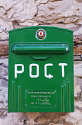 Post Box Prints - Green post box in Lahic village Azerbaijan Print by Robert Preston