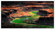 Arial Framed Prints - Green River Framed Print by Lar Matre