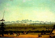 Wa Paintings - Green River Rendezvous by Alfred Jacob Miller