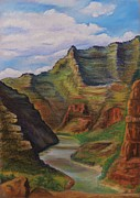 Canoe Pastels Metal Prints - Green river Utah Metal Print by Lucy Deane