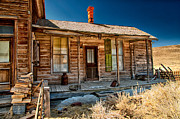 Ghost Town Metal Prints - Green Shutter Metal Print by Cat Connor