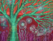 Alice Mason - Green Spiral Tree