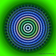 Visual Artist  Frank Bonilla - Green Sunburst