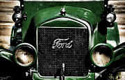 Ford Model T Framed Prints - Green T Ford Framed Print by Ken Smith
