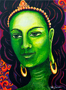 Buddha Tara Posters - Green Tara the Swift One Poster by Peta Garnaut